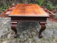 Large Antique 19th Century Regency Style Rosewood Writing Table / Partners Desk (18 of 32)