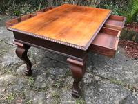 Large Antique 19th Century Regency Style Rosewood Writing Table / Partners Desk (20 of 32)