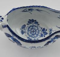 Early Derby Porcelain Blue & White Sauce Boat Chinese Scenes C.1760-1765 (11 of 15)