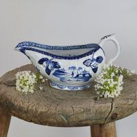 Early Derby Porcelain Blue & White Sauce Boat Chinese Scenes C.1760-1765 (15 of 15)