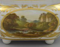 Derby Porcelain Sucrier & Cover Landscapes Berkshire & Wales c.1815 (12 of 21)