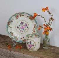 First Period Worcester Porcelain Compagnie Des Indes & Rich Japan Coffee Cup & Saucer (11 of 11)