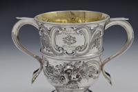 "George II Silver Twin Handled Loving Cup ""Feast of Saint Joseph"" Georgian (6 of 16)"