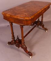 Superb Victorian Games Table in Burr Walnut with Inlay of Boxwood
