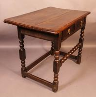 17th Century Side Table in Oak Fantastic Colour (2 of 16)