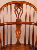 Yew Wood Windsor Chair Stamped Nicholson Rockley (5 of 11)