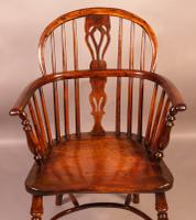Yew Wood Windsor Chair Stamped Nicholson Rockley (6 of 11)
