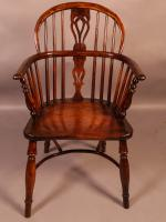 Yew Wood Windsor Chair Stamped Nicholson Rockley (3 of 11)