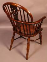 Yew Wood Windsor Chair Stamped Nicholson Rockley (2 of 11)