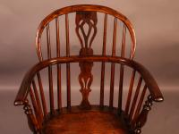 Yew Wood Windsor Chair Stamped Nicholson Rockley (7 of 11)