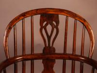 Yew Wood Windsor Chair Stamped Nicholson Rockley (8 of 11)