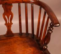 Yew Wood Windsor Chair Stamped Nicholson Rockley (9 of 11)