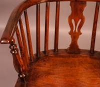 Yew Wood Windsor Chair Stamped Nicholson Rockley (10 of 11)