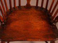 Yew Wood Windsor Chair Stamped Nicholson Rockley (11 of 11)