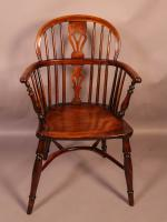 Yew Wood Low Windsor Chair Rockley Workshop (2 of 10)