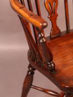 Yew Wood Low Windsor Chair Rockley Workshop (7 of 10)