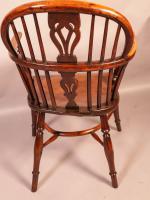 Yew Wood Low Windsor Chair Rockley Workshop (4 of 10)