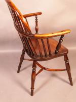 Yew Wood Low Windsor Chair Rockley Workshop (5 of 10)