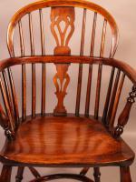 Yew Wood Low Windsor Chair Rockley Workshop (10 of 10)
