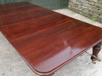 Early Victorian Mahogany Wind Out Extending Dining Table Seats 12 (3 of 4)