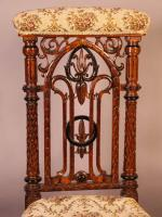 Gothic Prayer Chair c.1860 (4 of 7)