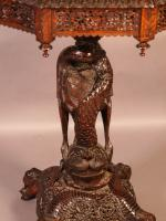 Good Indian Carved Table c.1860 (2 of 11)
