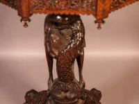 Good Indian Carved Table c.1860 (7 of 11)