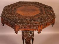 Good Indian Carved Table c.1860 (8 of 11)