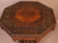 Good Indian Carved Table c.1860 (9 of 11)