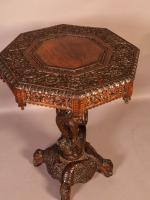 Good Indian Carved Table c.1860 (3 of 11)