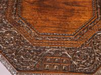 Good Indian Carved Table c.1860 (4 of 11)