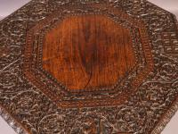 Good Indian Carved Table c.1860 (6 of 11)