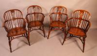 Set of 4 Yew Wood Windsor Chairs Nicholson Rockley (2 of 22)