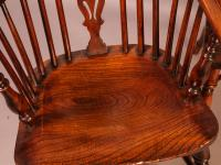 Set of 4 Yew Wood Windsor Chairs Nicholson Rockley (13 of 22)