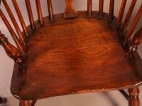 Set of 4 Yew Wood Windsor Chairs Nicholson Rockley (14 of 22)