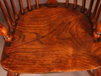 Set of 4 Yew Wood Windsor Chairs Nicholson Rockley (15 of 22)