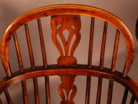 Set of 4 Yew Wood Windsor Chairs Nicholson Rockley (17 of 22)