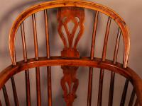 Set of 4 Yew Wood Windsor Chairs Nicholson Rockley (18 of 22)