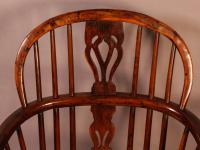 Set of 4 Yew Wood Windsor Chairs Nicholson Rockley (19 of 22)