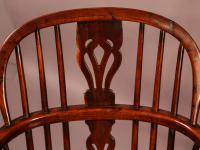 Set of 4 Yew Wood Windsor Chairs Nicholson Rockley (20 of 22)