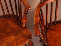 Set of 4 Yew Wood Windsor Chairs Nicholson Rockley (21 of 22)