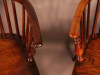 Set of 4 Yew Wood Windsor Chairs Nicholson Rockley (22 of 22)