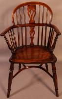 Set of 4 Yew Wood Windsor Chairs Nicholson Rockley (4 of 22)