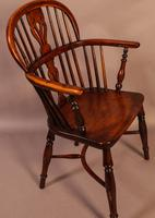 Set of 4 Yew Wood Windsor Chairs Nicholson Rockley (5 of 22)