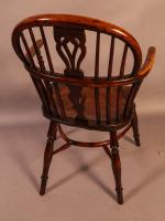 Set of 4 Yew Wood Windsor Chairs Nicholson Rockley (6 of 22)