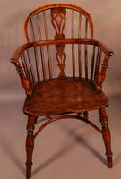 Set of 4 Yew Wood Windsor Chairs Nicholson Rockley (7 of 22)