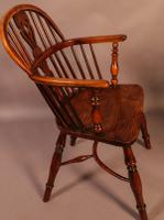 Set of 4 Yew Wood Windsor Chairs Nicholson Rockley (8 of 22)