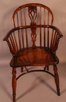 Set of 4 Yew Wood Windsor Chairs Nicholson Rockley (9 of 22)