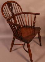 Set of 4 Yew Wood Windsor Chairs Nicholson Rockley (10 of 22)