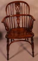 Set of 4 Yew Wood Windsor Chairs Nicholson Rockley (11 of 22)